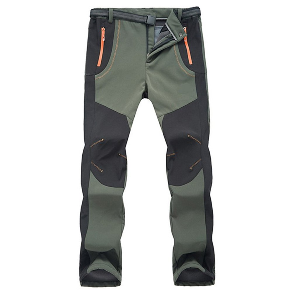 CIKRILAN Men's Outdoor Water Resistant Fleece Lined Pants Windproof Trousers MSDAAP1641M