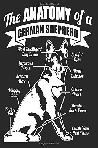 The Anatomy of a German Shepherd: Funny German Shepherd Owners Notebook Gift