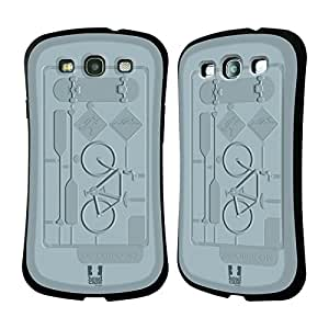 Head Case Designs Outdoors Model Kits Hybrid Gel Back Case for Samsung Galaxy S3 III I9300