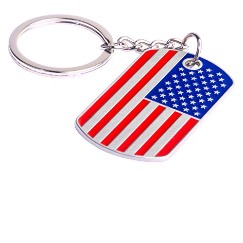 - BeautyLuxary Keychain Pop Keychain with One Key Ring for Men and Women (U.S.A Flag Pattern)