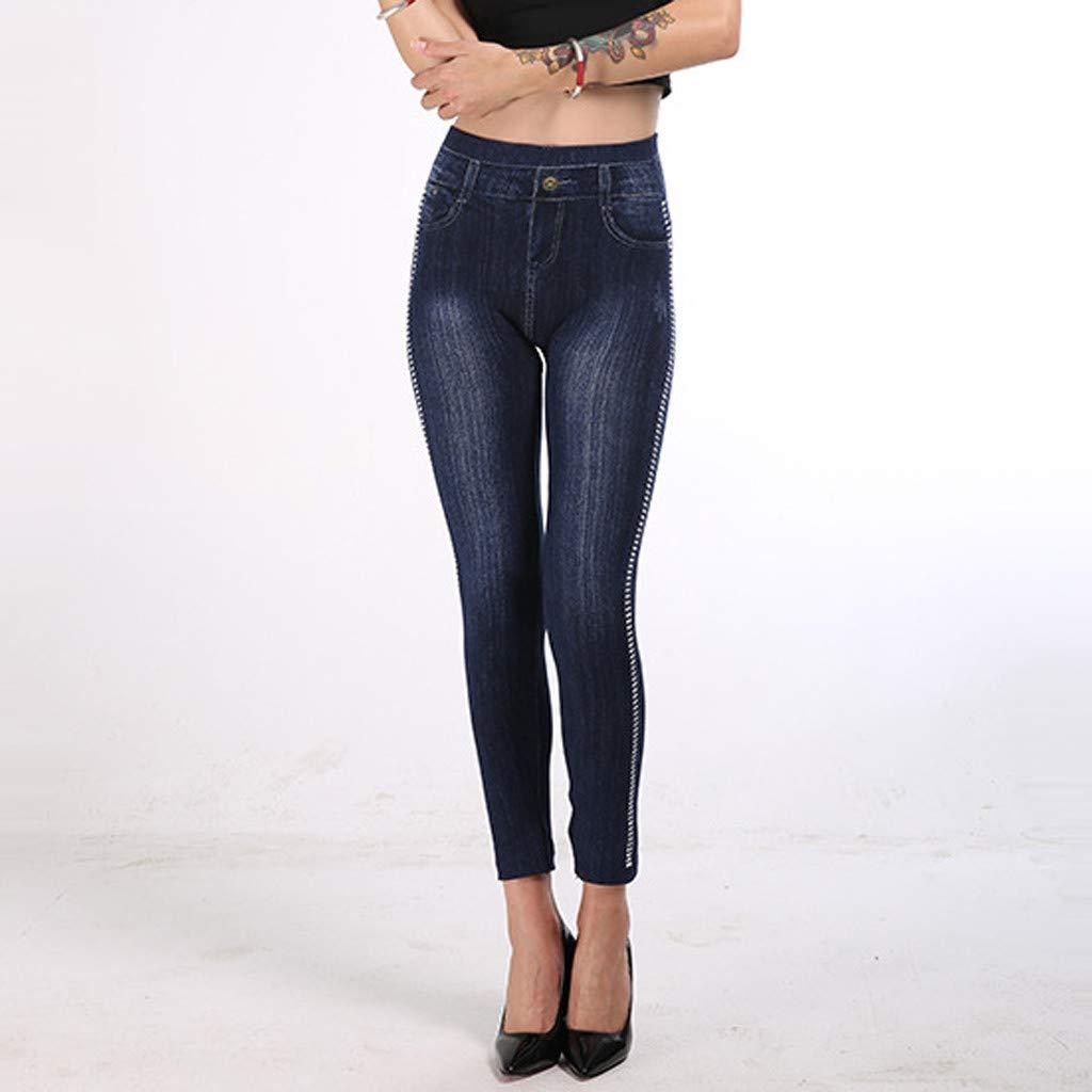 Skinny Lápiz Pantalón de Tallas Grandes Mujer Imitacion ...