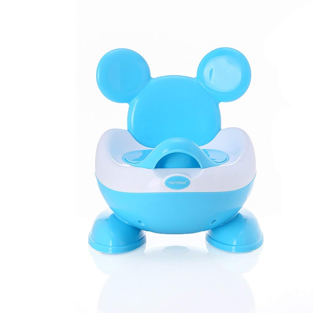 XWJC Large Padded Children's Toilet Stool Child Toilet Infant Urinal Child Potty Toilet Toilet Male and Female Baby Environmental PP Material 0-5 Years Old (Color : Blue)