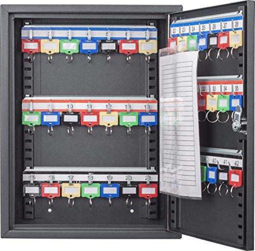 Key Log (Barska 42 Position Key Cabinet with Key Lock, Black)