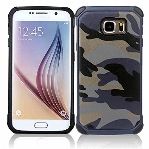 Joy2ee Camouflage Samsung Galaxy Note 5 Case, Shockproof High Impact Resist Hard Armor Case[navy Blue]