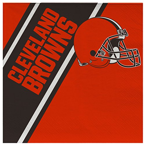 NFL Cleveland Browns Disposable Paper Napkins, Pack of 20