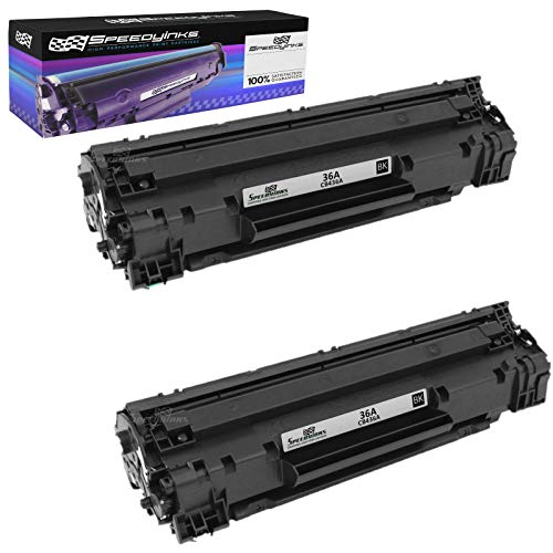 Speedy Inks Compatible Toner Cartridge Replacement for HP 36A CB436A (Black, 2-Pack) (M1522nf Laserjet Hp)
