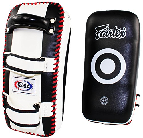Fairtex Muy Thai MMA Kickboxing Training Curved Standard Kick Pads (Pair)
