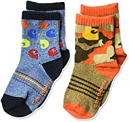 Carhartt baby-boys 2 Pack Infant Toddler Crew Socks With Grippers