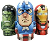 Avengers Assemble Character Shape Dome Tin Bank with Arms, Pack of 3