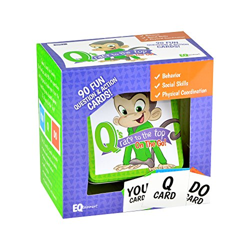 Q's Race to the Top On-the-Go Pack: fun questions and activities for practicing social skills, manners, and emotional control! (Question Pack)