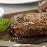 Laura's Lean Grass Fed Natural Ribeye Steaks 10oz - 4 per case, no added hormones or antibiotics ever, humanely handled, frozen, bulk pack