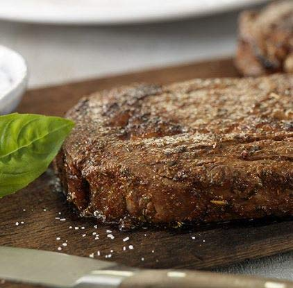 Laura's Lean Grass Fed Natural Ribeye Steaks 10oz - 4 per case, no added hormones or antibiotics ever, humanely handled, frozen, bulk pack by Laura's Lean Beef (Image #2)