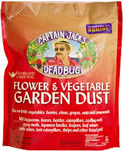 Captain Jacks Deadbug Brew Flower Vegetable Garden Dust 4 Lbs Spinosad 0.001%