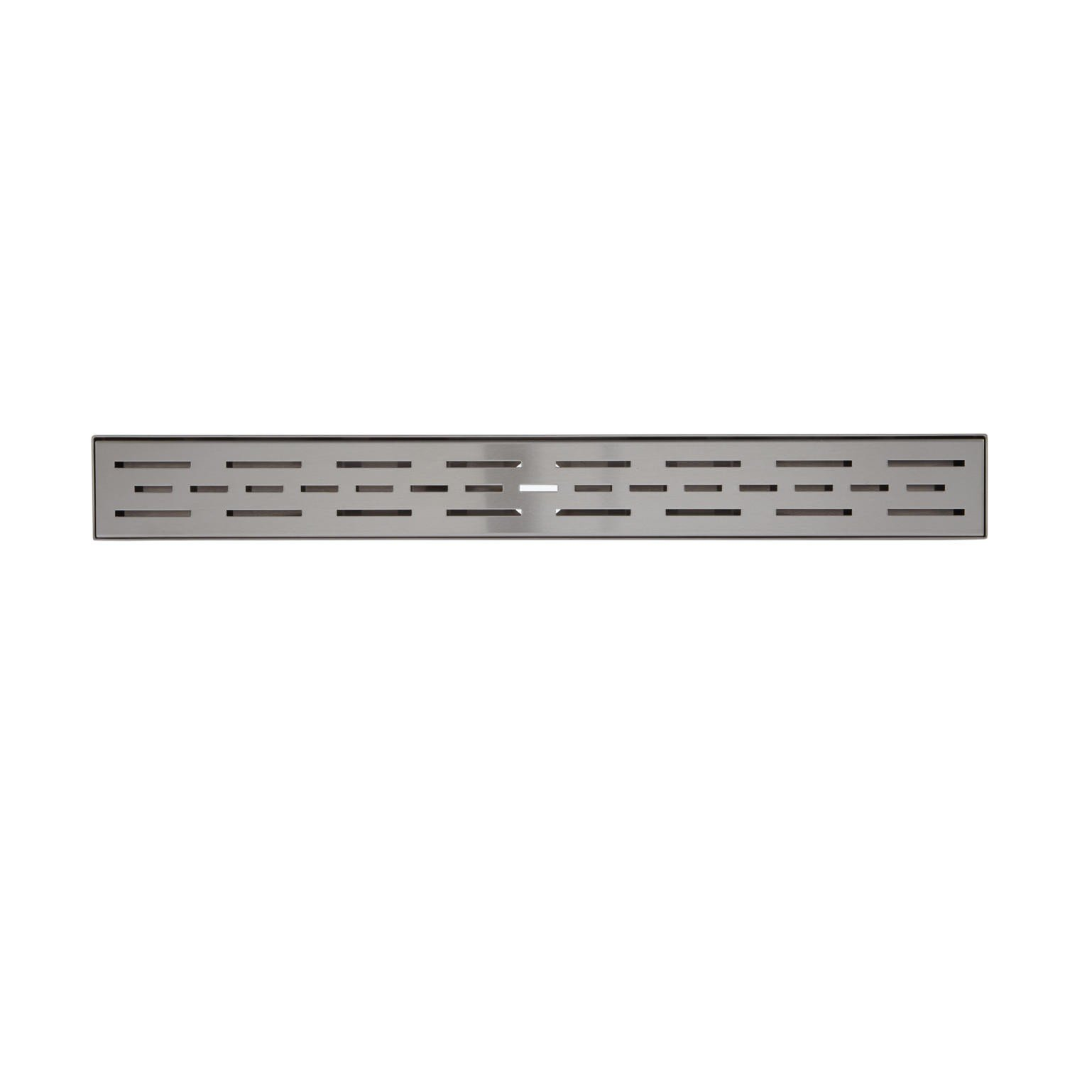"hot sale 2017 Naiture 32"" Stainless Steel Linear Shower Floor Drain Without Drain Flange In Brushed Stainless Steel Finish"