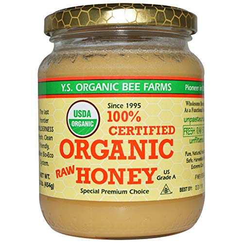Y.S. Eco Bee Farms, (2 Pack) 100% Certified Organic Raw Honey, 1.0 lb (454 g)