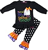 Angeline Girls Halloween Ghost Small Bows Are So Scary Set 12-18/XXS
