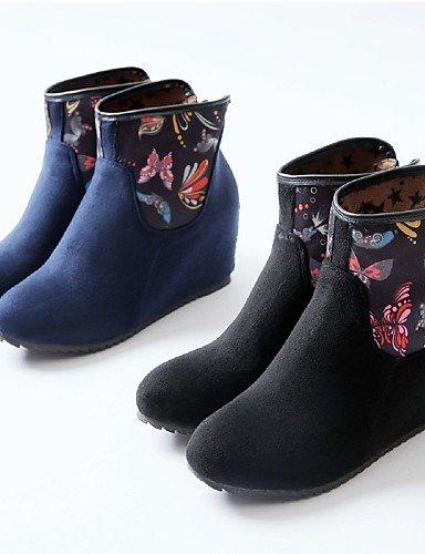 Negro Dark Zapatos Vellón Casual Xzz Marino Blue Mujer us3 Cuñas 5 us1 Redonda De Cuña Moda La Botas 5 Tacón Eu42 Tejido us10 Blue 5 Punta Cn32 Cn43 Uk8 Vestido Uk1 Eu33 Azul A Black 5 Had6naOxqr
