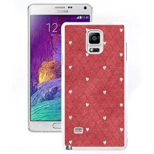 NEW Unique Custom Designed Samsung Galaxy Note 4 N910A N910T N910P N910V N910R4 Phone Case With Hearts Diamonds Pattern_White Phone Case