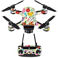 Skin for DJI Spark Mini Drone Combo - Flower Garden| MightySkins Protective, Durable, and Unique Vinyl Decal wrap cover | Easy To Apply, Remove, and Change Styles | Made in the USA