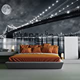 Brooklyn Bridge New York Skyline Cityscape Wall Mural Travel Photo Wallpaper available in 8 Sizes Gigantic Digital