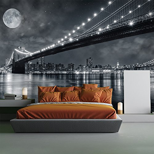 Brooklyn Bridge New York Skyline Cityscape Wall Mural Travel Photo Wallpaper available in 8 Sizes Gigantic Digital by azutura (Image #3)