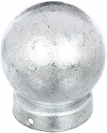 mit Kugelkopf anthrazit-metalic GAH-Alberts 664671 Pfostenkappe f/ür runde Metallpfosten /Ø60 mm