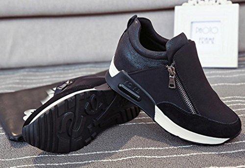 Porciones Deportes Corriendo Plataforma de mujer Zapatos Botines individuales Sneakers Moda Zapatos mujer Ponerse Tac de wCUnOOz