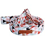 LOVELY Dog Collar And Leash Set With Bow Tie Soft And Cotton Fabric Collar Rose Gold Metal Buckle Adjustable Size Pet Accessories leash L