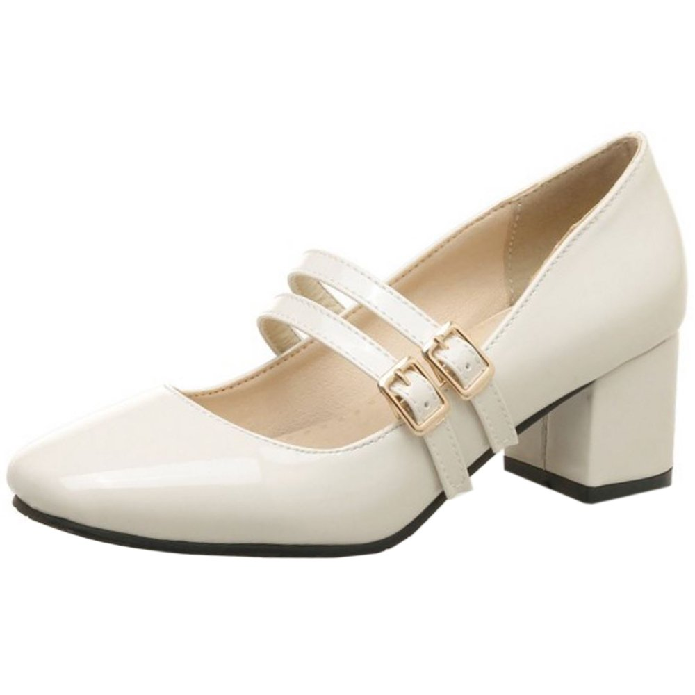 Zanpa Femmes Mode Beige Mary Mary Janes Big Mode Tailles Beige 46e9185 - conorscully.space