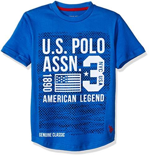 U.S. Polo Assn. Boys' Big Short Sleeve Graphic Print T-Shirt, Blue Hill ()