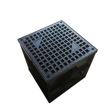 Hofablauf 400x400 Kl.A15 Hofsinkkasten KG Rohr Hofeinlauf Einlaufkasten Ablauf