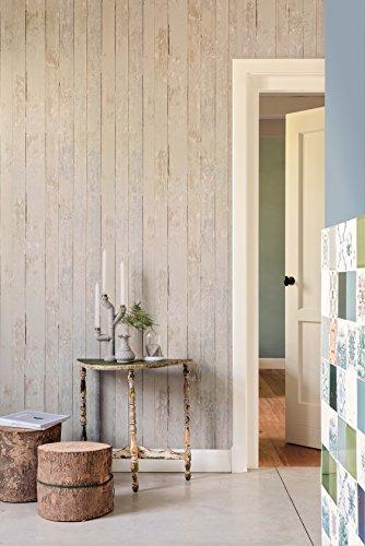 Vlies Tapete Antik Holz rustikal beige grau verwittert