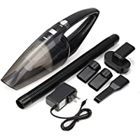 Ms Kelly Car Vacuum Cleaner Strong Suction Car Vacuum Potable Handheld Automotive Vac Cleaner for Wet&Dry with LED Light Carrying Bag and HEPA Filter Use for All Cars-Black