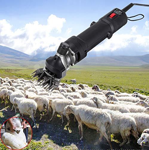 Ridgeyard 110V 320W Electric Sheep Goat Clipper Shearing Shears Clipping Grooming Machine for Pet Animal Livestock
