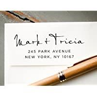 Self-Inking Hand Calligraphy Font Custom Return Address Stamp, Personalized Rubber Stamp, Wedding Invitation Stamp, Save the Date Stamp