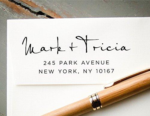 amazon com self inking hand calligraphy font custom return address