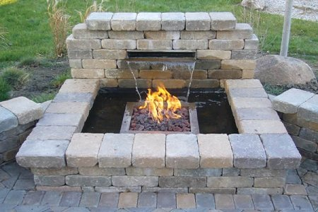 Yard Pond - EasyPro Pond Products Fire Burner with Plumbing Kit for Vianti Falls, 16