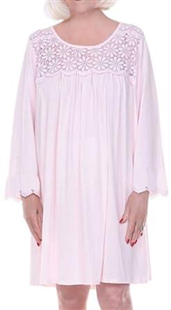 Dignidad pijama para mujer algodón camisón de manga larga para ...