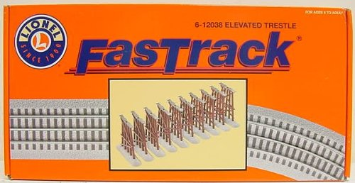 Train Elevated (Lionel 6-12038 FasTrack Elevated Trestle Set)