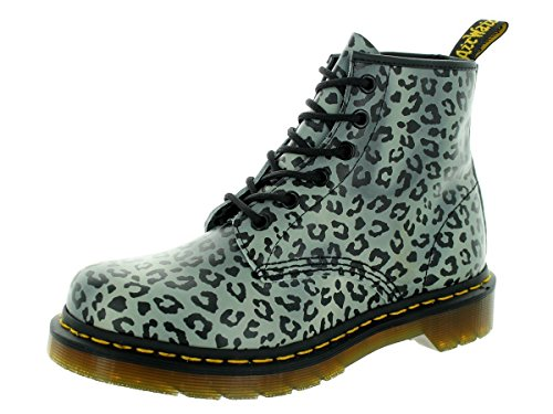 10116122010CHARCOAL Dr. Martens Botines Mujer Piel Gris Grigio