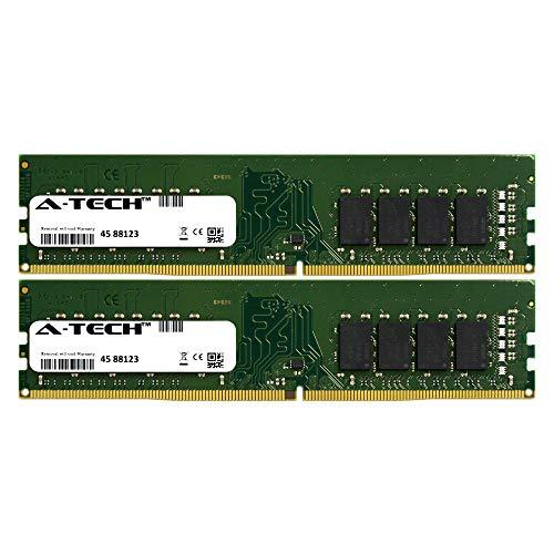 (A-Tech 32GB Kit (2 x 16GB) 2400Mhz PC4-19200 288-Pin Dimm DDR4 1.2v Non ECC 2rx8 Desktop Computer Memory Ram Modules (AT16G2D4D2400ND8N12V))