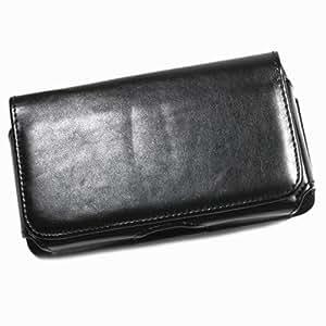 Funda con tapa de color negro para KYOCERA TORQUE E6710 móvil
