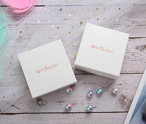 MVCOLEDY Jewelry 18 K Gold/Rose Gold/White Bangle Bracelet Set High Polished Bangle Shiny Minimalist Stainless Steel Bangle for Women Size 7 Inches
