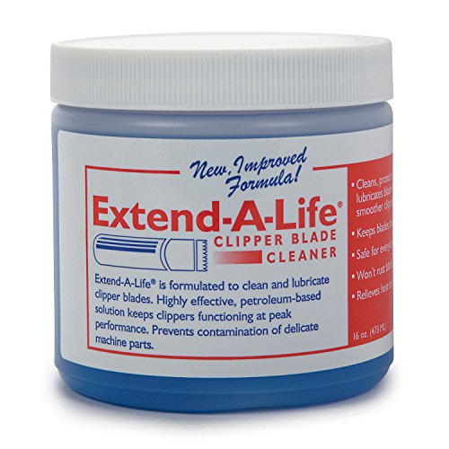 - Top Performance Extend-A-Life Blade Rinses - Handy Cleaners for Dog-Grooming Clippers, 16oz