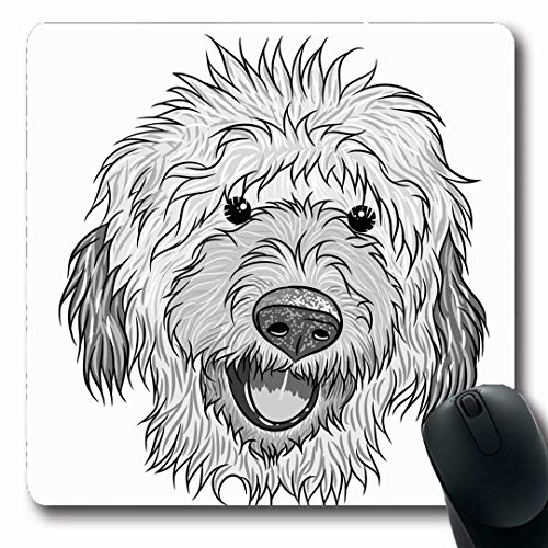 Ahawoso Mousepads Cool Adorable Labradoodle Dog Nature Baby Child Boy Breed Design Oblong Shape 7.9 x 9.5 Inches Non-Slip Gaming Mouse Pad Rubber Oblong Mat