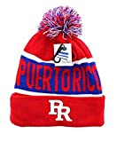 Artisan Owl Puerto Rico Winter Knit Pom Pom Beanie Puerto Rican Hat with Cuff (Red)
