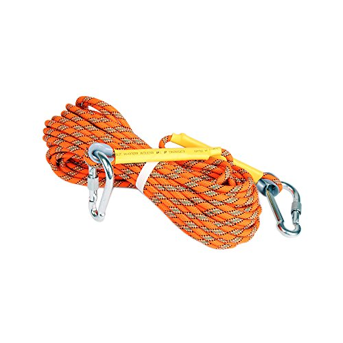HYFAN Climbing Escape Rope Equipment Fire Rescue Parachute Rope Outdoor Professional High Strength Cord Safety Rope (Polyester, 8 mm, 32 ft)