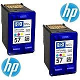 HP Cartucho de tinta nº 57 Cyan/Magenta/Yellow Pack of 2