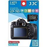 JJC Guard Film displayschutzfolie passgenau für Canon EOS 70D - Anti-Kratzer Antireflex Displayschut