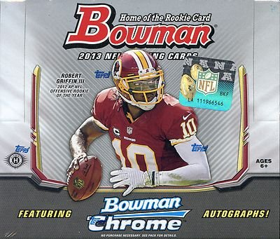 2013 Bowman Football Hobby Box - NFL Football Cards by Sports Memorabilia